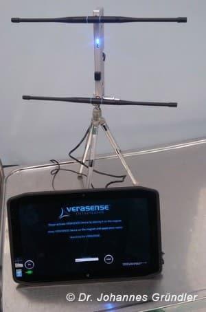 Sensor Knie 4.0 Bedienterminal mit Antennen bei einer Operation