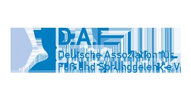 Logo Deutsche Assoziation für Fuß und Sprunggelenk e.V. in Blau - D.A.F.