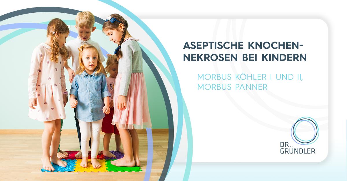 """Kinder stehen auf einer Puzzlematte mit verschiedenen Oberflächen - """"Aseptische Knochennekrose bei Kindern - Morbus Köhler 1 und 2, Morbus Panner"""""""