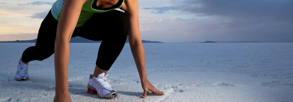 Läuferin auf einem Salzsee
