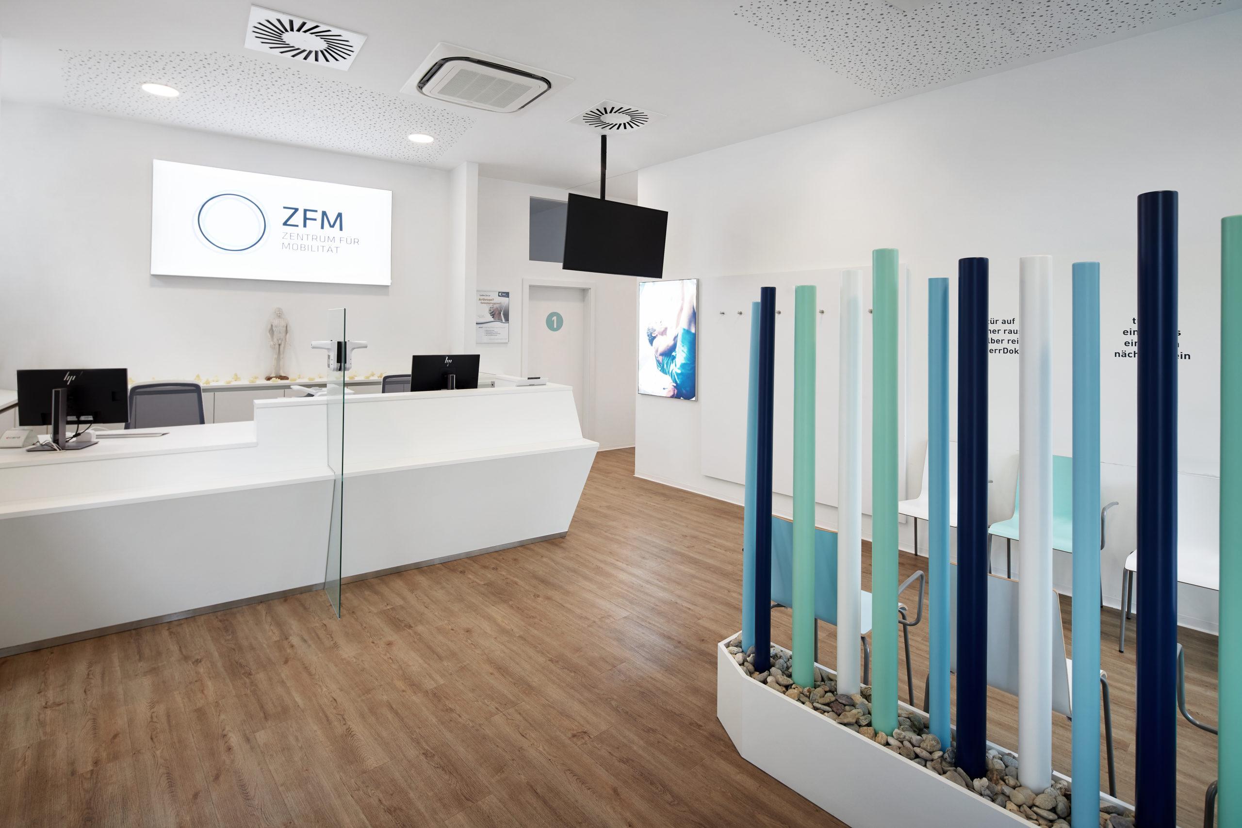 Eingangsbereich des ZFM - Zentrum für Mobilität in Wien mit der Möglichkeit eines Pharmakogenetischen Tests